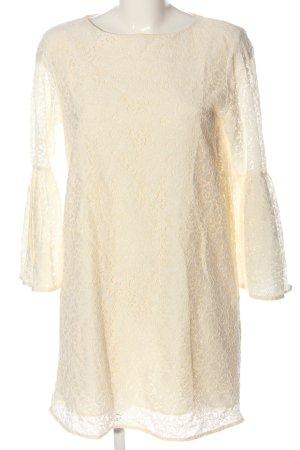 Zara Woman Spitzenkleid creme Casual-Look