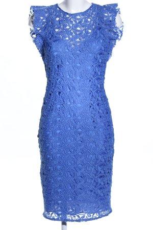 Zara Woman Robe en dentelle bleu élégant