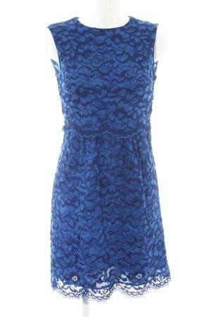 Zara Woman Spitzenkleid blau Elegant