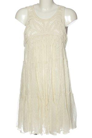 Zara Woman Robe en dentelle blanc cassé élégant