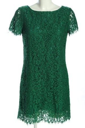 Zara Woman Abito in pizzo verde elegante