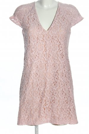 Zara Woman Spitzenkleid pink Casual-Look