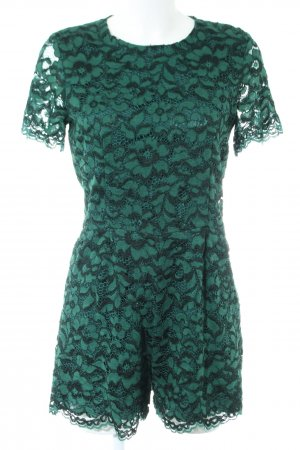Zara Woman Spitzenkleid grün Blumenmuster Elegant