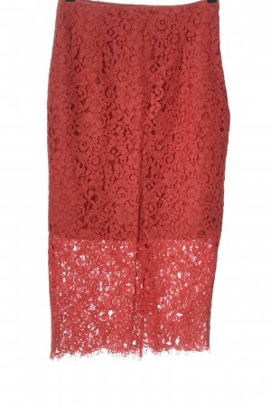 Zara Woman Lace Skirt red party style