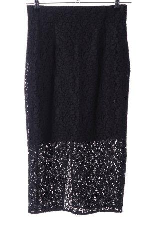 Zara Woman Spitzenrock schwarz Elegant