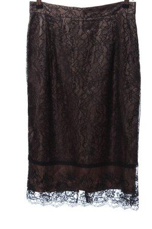 Zara Woman Kanten rok bruin elegant