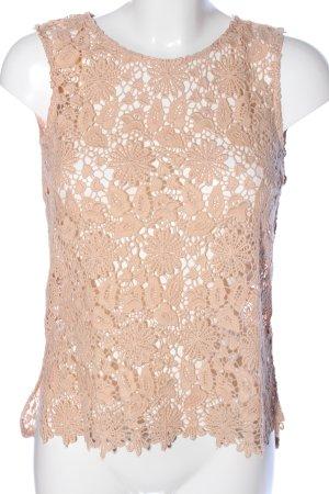 Zara Woman Spitzentop nude Elegant