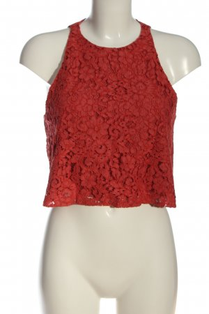 Zara Woman Lace Top red casual look