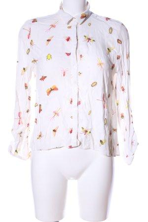 Zara Woman Blouse met opstaande kraag volledige print casual uitstraling