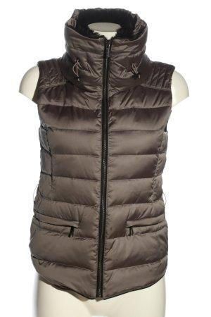 Zara Woman Gilet matelassé gris clair motif de courtepointe style décontracté