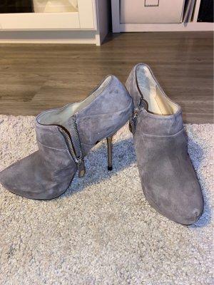 Zara Bottines à plateforme gris brun