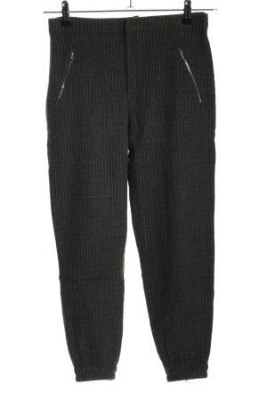 Zara Woman Stoffhose schwarz-weiß Allover-Druck Casual-Look