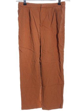 Zara Woman Stoffhose hellorange Casual-Look