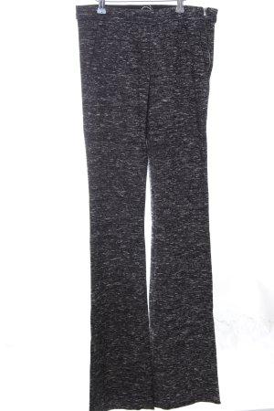 Zara Woman Stoffhose schwarz-weiß meliert Casual-Look