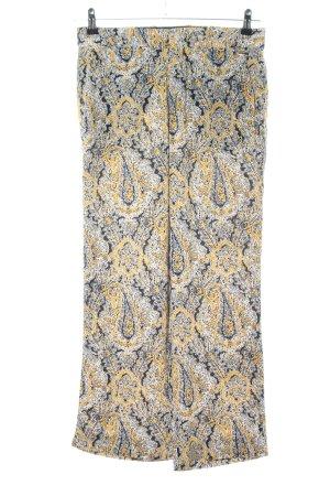 Zara Woman Stoffhose abstraktes Muster Casual-Look
