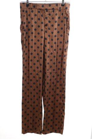 Zara Woman Stoffhose braun-schwarz Punktemuster Casual-Look