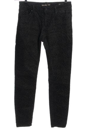 Zara Woman Stoffhose schwarz grafisches Muster Casual-Look