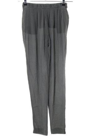 Zara Woman Stoffhose hellgrau Casual-Look