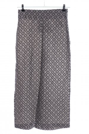 Zara Woman Stoffhose hellgrau-schwarz Allover-Druck Casual-Look
