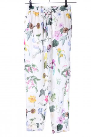 Zara Woman Stoffhose Blumenmuster Casual-Look