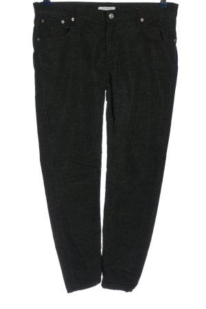 Zara Woman Stoffhose schwarz Streifenmuster Casual-Look