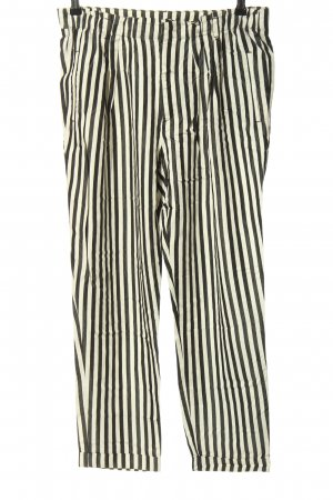Zara Woman Stoffhose weiß-schwarz Allover-Druck Casual-Look