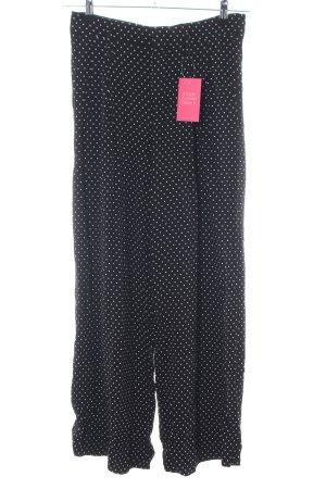 Zara Woman Stoffhose schwarz-weiß Punktemuster Casual-Look