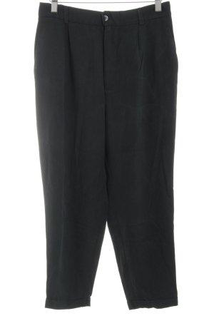 Zara Woman Stoffhose schwarz schlichter Stil