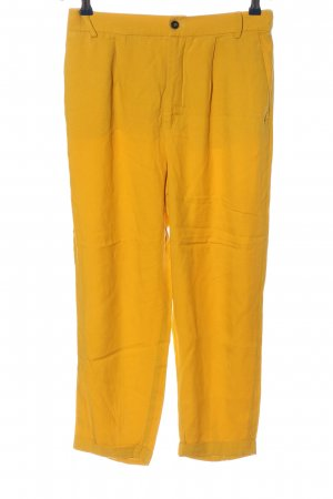 Zara Woman Stoffhose blassgelb Casual-Look