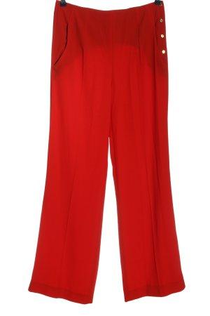 Zara Woman Stoffhose rot Casual-Look