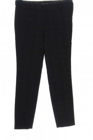 Zara Woman Stoffhose schwarz-grün Allover-Druck Casual-Look