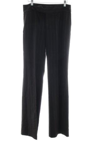 Zara Woman Stoffhose schwarz-weiß Streifenmuster Business-Look