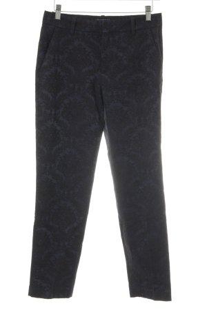 Zara Woman Stoffhose dunkelblau-schwarz Allover-Druck schlichter Stil