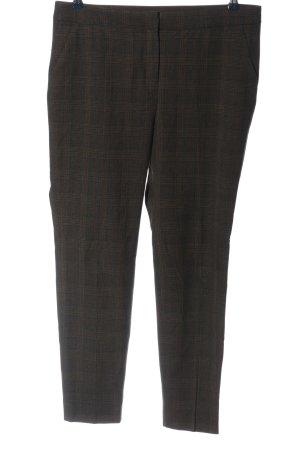 Zara Woman Pantalon en jersey gris clair-brun motif à carreaux