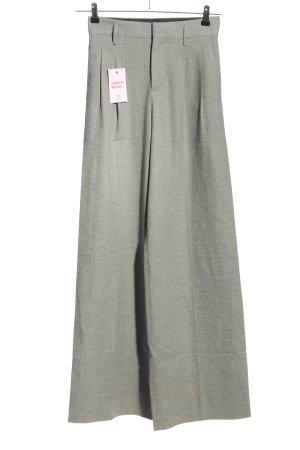 Zara Woman Stoffhose hellgrau meliert Business-Look