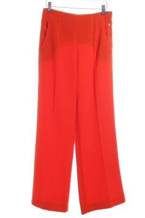 Zara Woman Stoffhose hellrot Business-Look
