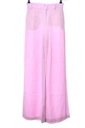 Zara Woman Stoffhose rosa Business-Look