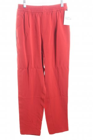 Zara Woman Stoffhose rot-schwarz Casual-Look
