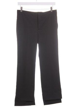 Zara Woman Stoffhose schwarz-grau Business-Look