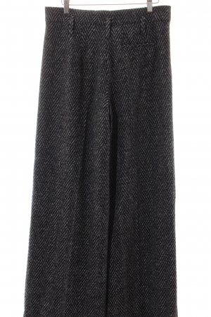 Zara Woman Stoffhose schwarz-hellgrau Casual-Look
