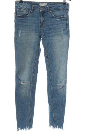 Zara Woman Jeansy z prostymi nogawkami niebieski W stylu casual