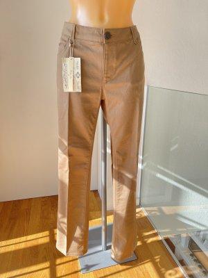 Zara Woman Jeansy z prostymi nogawkami Wielokolorowy Bawełna