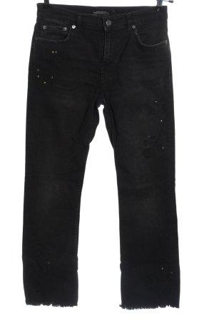 Zara Woman Jeansy z prostymi nogawkami czarny W stylu casual