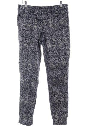 Zara Woman Straight-Leg Jeans dunkelblau-blassblau Motivdruck Romantik-Look