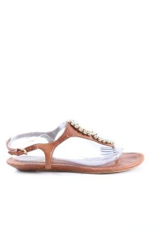 Zara Woman Sandały plażowe brązowy W stylu casual