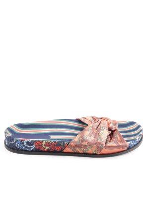Zara Woman Sandalias de playa Mezcla de patrones look casual