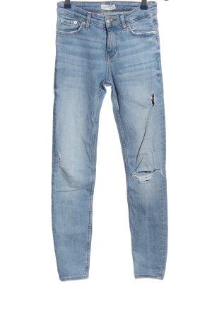 Zara Woman Stretch Jeans blau Casual-Look