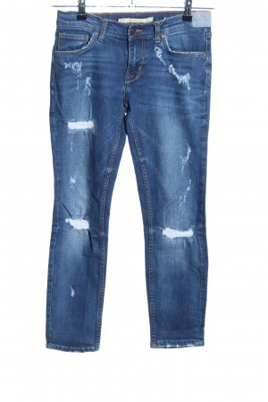 Zara Woman Stretch jeans blauw casual uitstraling