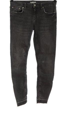 Zara Woman Jeansy ze stretchu czarny W stylu casual