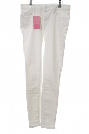 Zara Woman Stretchhose weiß Casual-Look